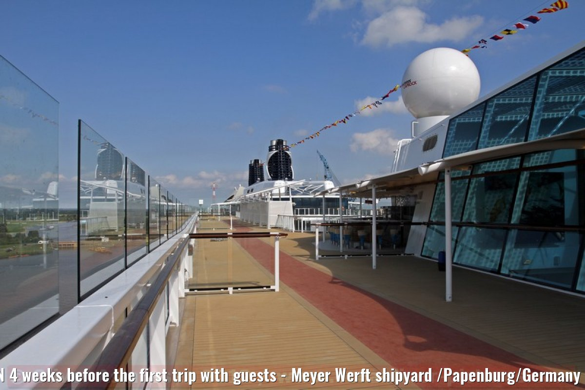 CELEBRITY REFLECTION 4 weeks before the first trip with guests - Meyer Werft shipyard /Papenburg/Germany - September 08, 2012