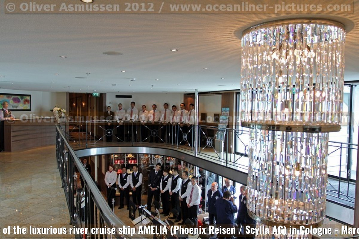 Christening of the luxurious river cruise ship AMELIA (Phoenix Reisen / Scylla AG) in Cologne - March 31, 2012