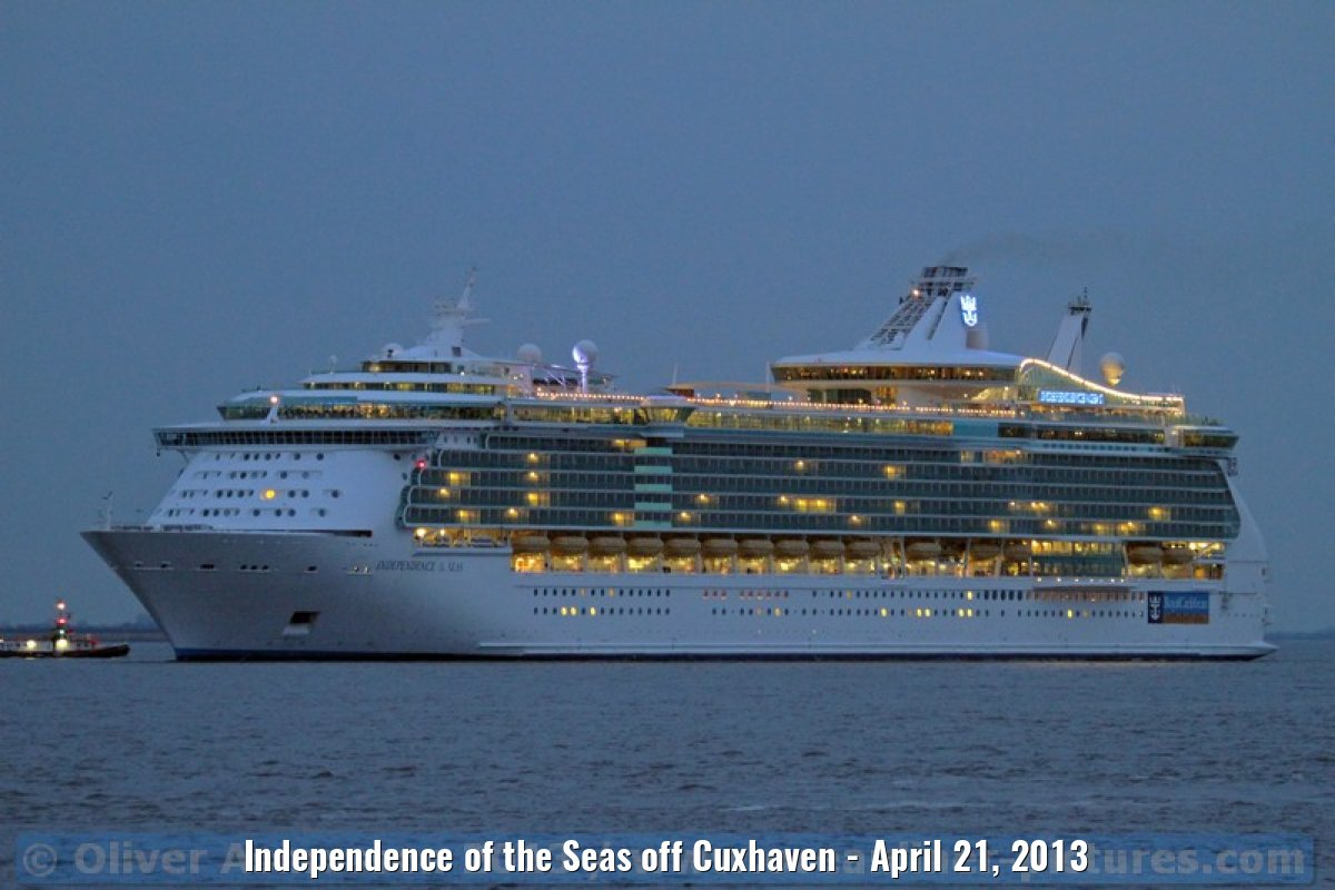 Independence of the Seas off Cuxhaven - April 21, 2013