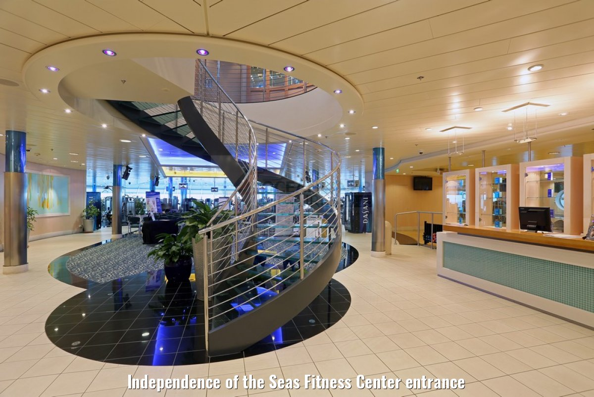Independence of the Seas Fitness Center entrance