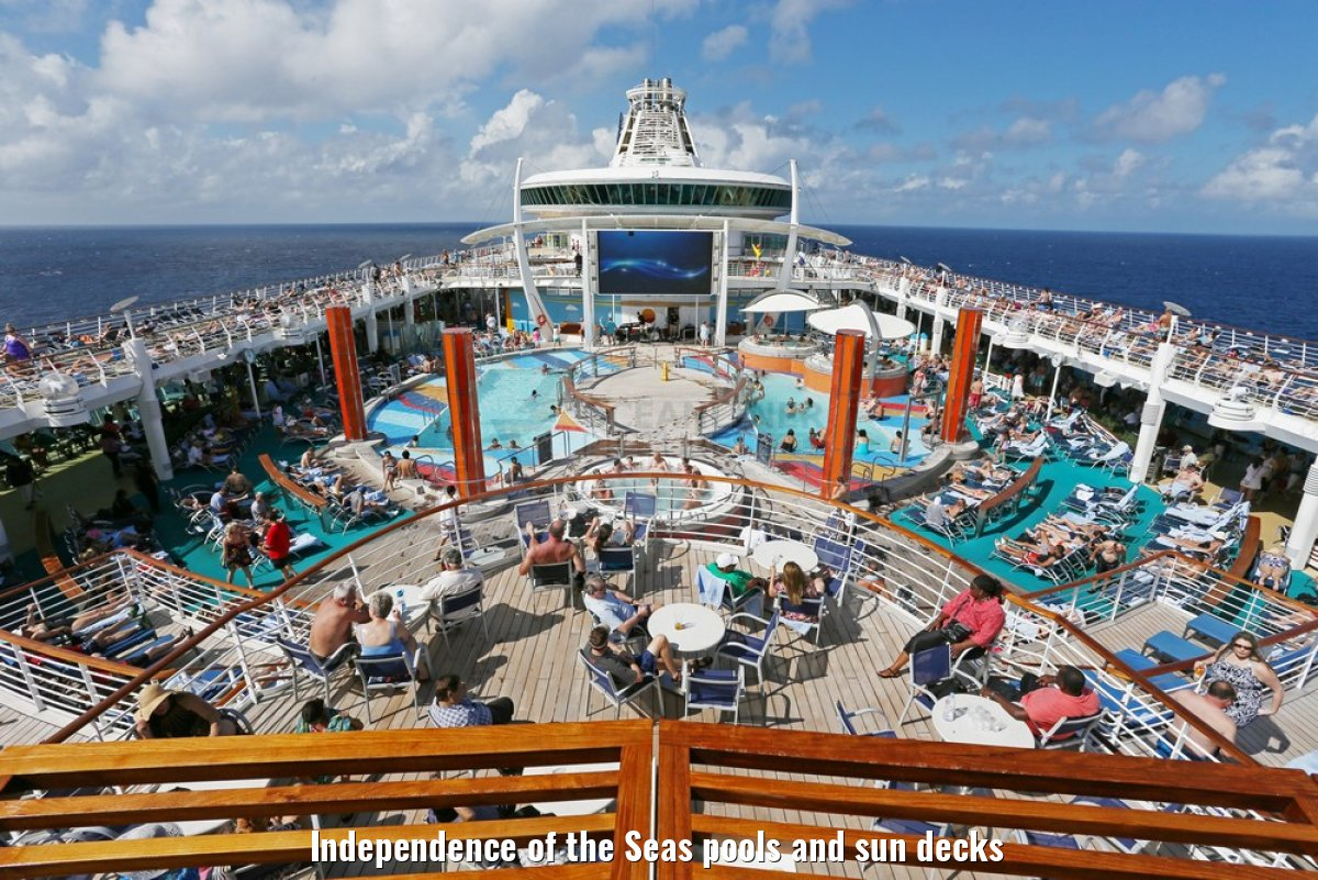 Independence of the Seas pools and sun decks