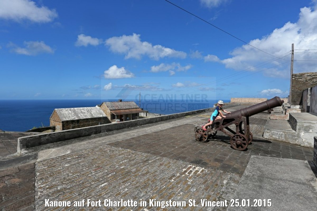 Kanone auf Fort Charlotte in Kingstown St. Vincent 25.01.2015
