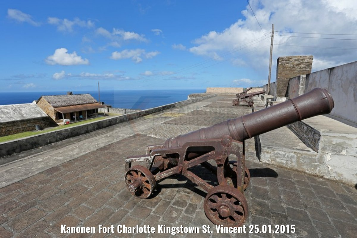 Kanonen Fort Charlotte Kingstown St. Vincent 25.01.2015