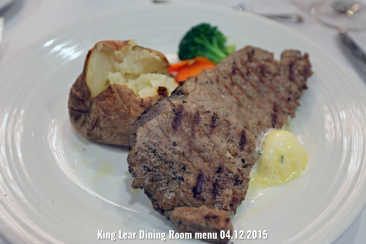 King Lear Dining Room menu 04.12.2015