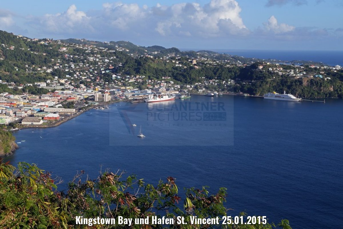 Kingstown Bay und Hafen St. Vincent 25.01.2015
