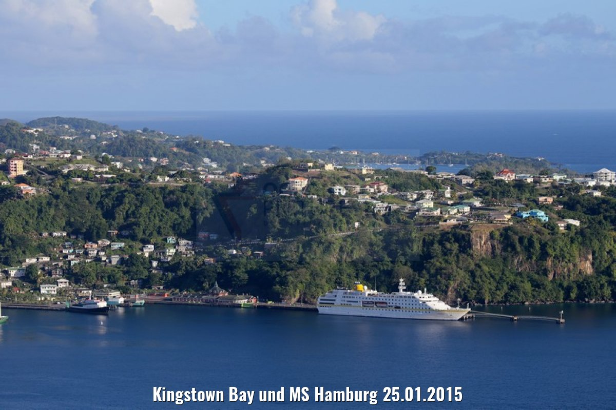Kingstown Bay und MS Hamburg 25.01.2015