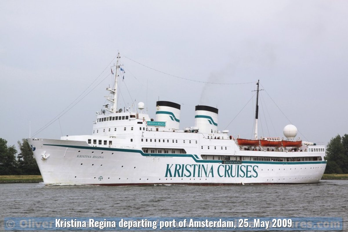 Kristina Regina departing port of Amsterdam, 25. May 2009