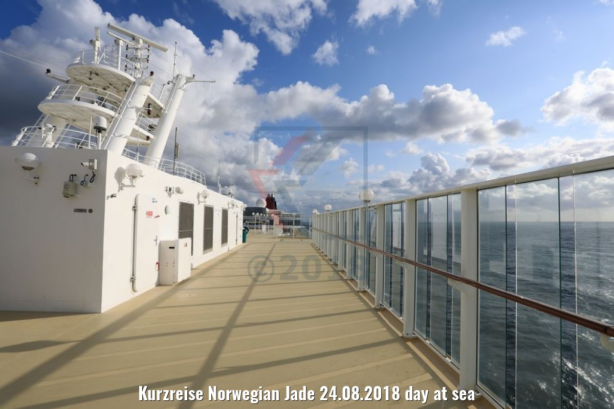 Kurzreise Norwegian Jade 24.08.2018 day at sea