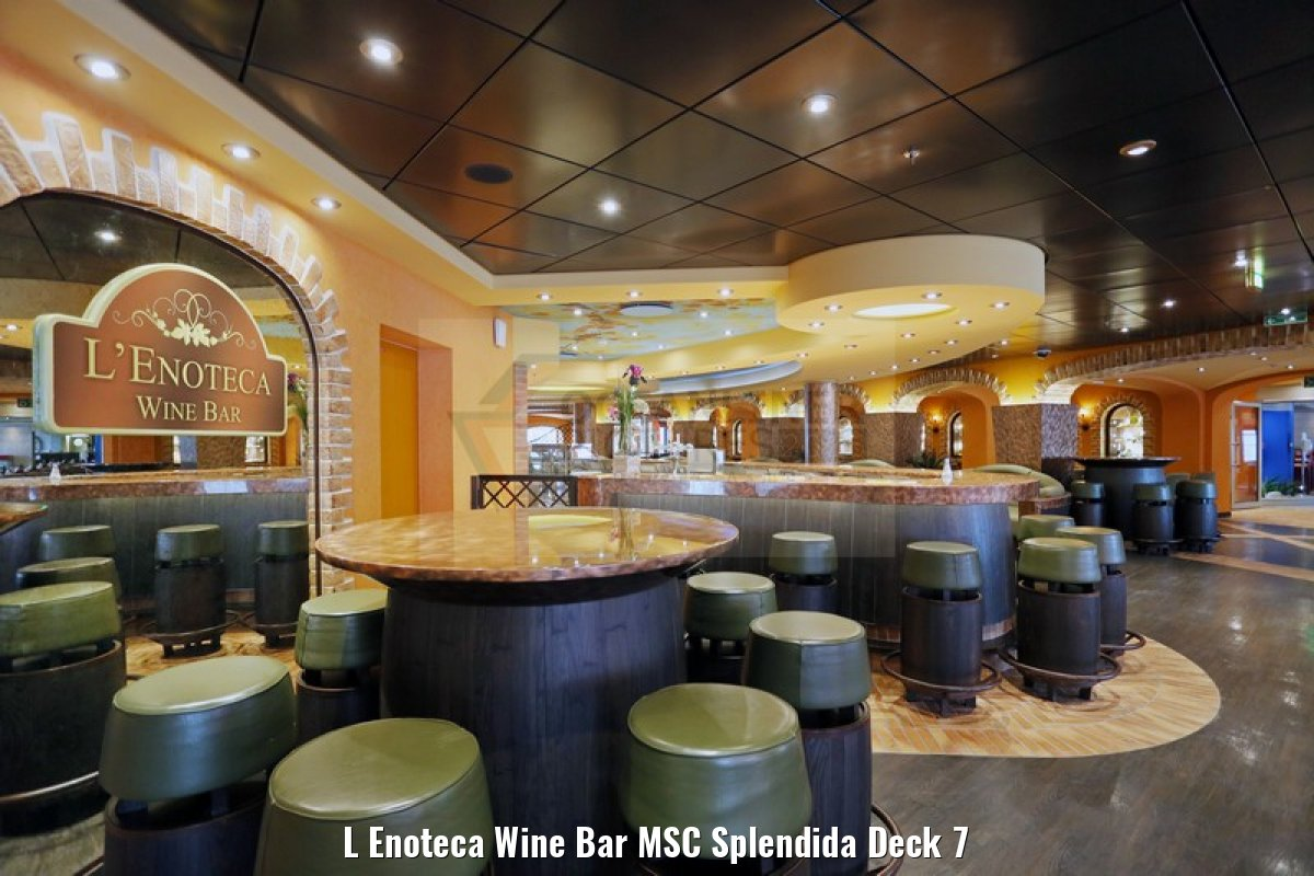 L Enoteca Wine Bar MSC Splendida Deck 7