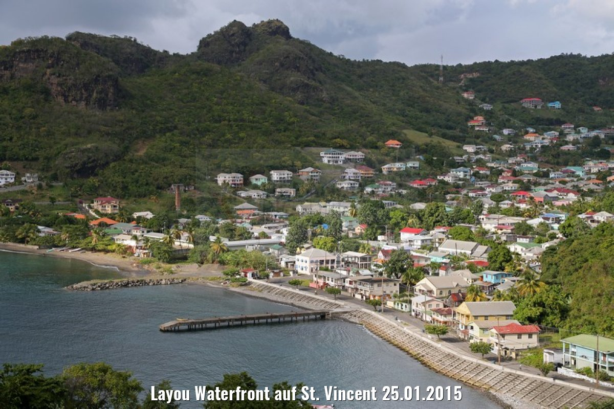 Layou Waterfront auf St. Vincent 25.01.2015