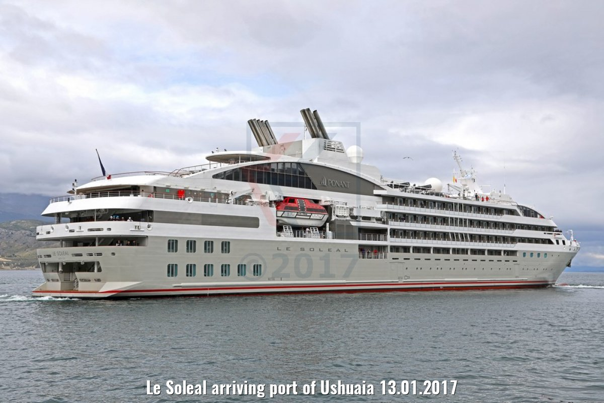 Le Soleal arriving port of Ushuaia 13.01.2017