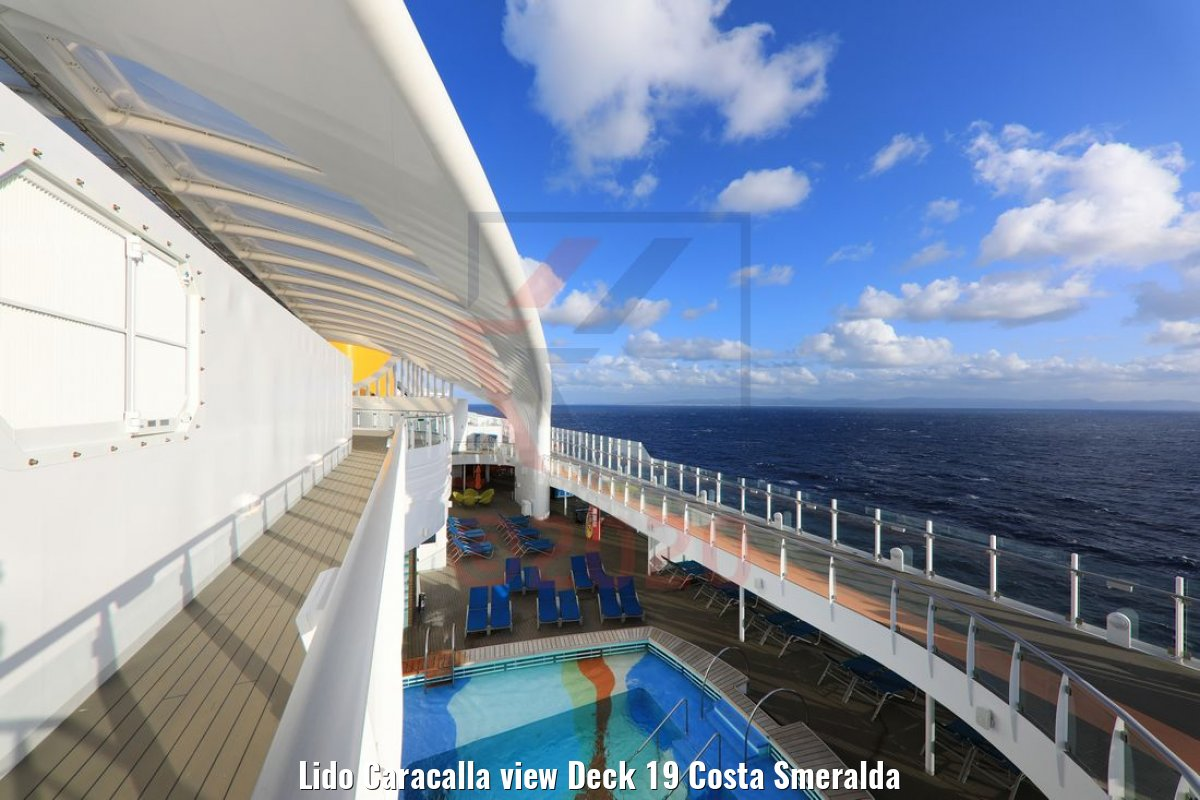 Lido Caracalla view Deck 19 Costa Smeralda