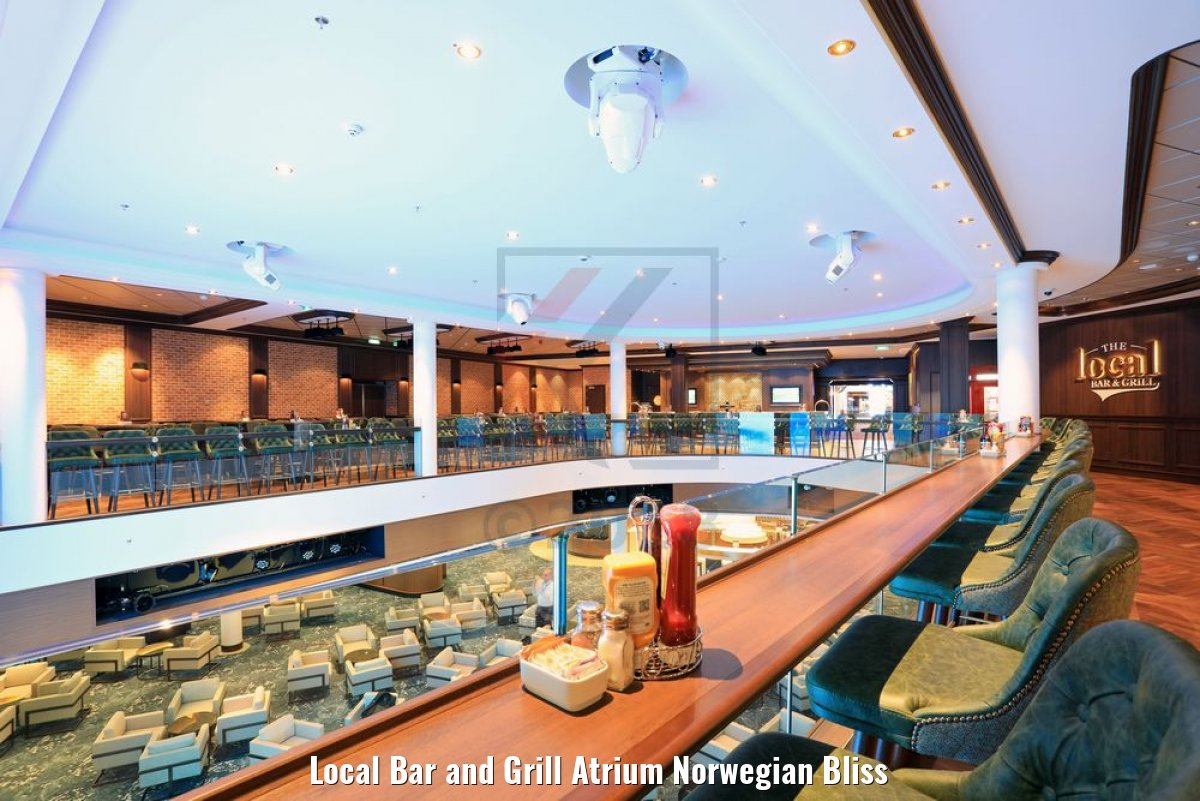 Local Bar and Grill Atrium Norwegian Bliss