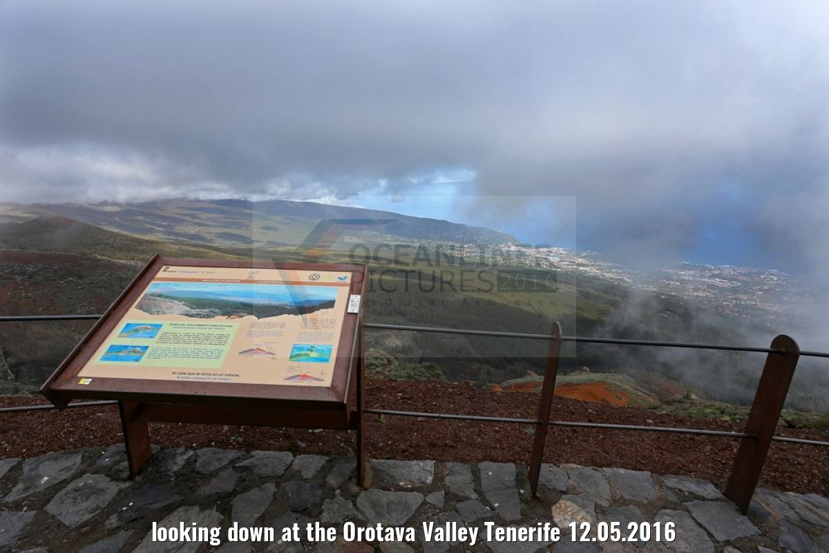 looking down at the Orotava Valley Tenerife 12.05.2016
