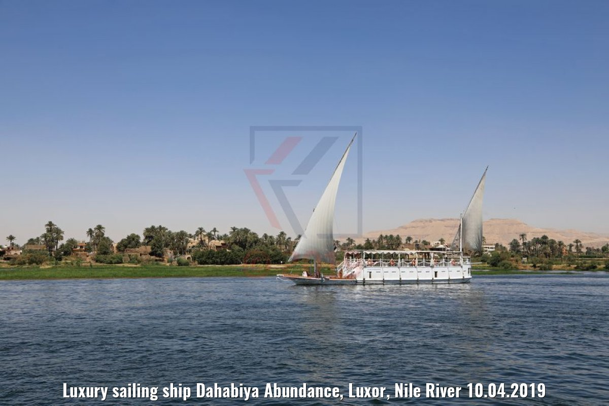 Luxury sailing ship Dahabiya Abundance, Luxor, Nile River 10.04.2019