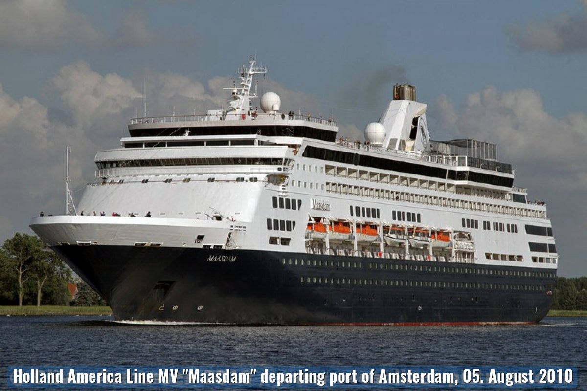"Holland America Line MV ""Maasdam"" departing port of Amsterdam, 05. August 2010"
