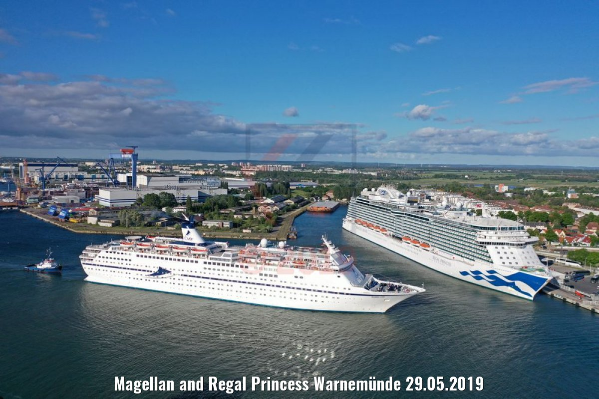 Magellan and Regal Princess Warnemünde 29.05.2019