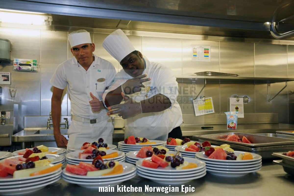 main kitchen Norwegian Epic