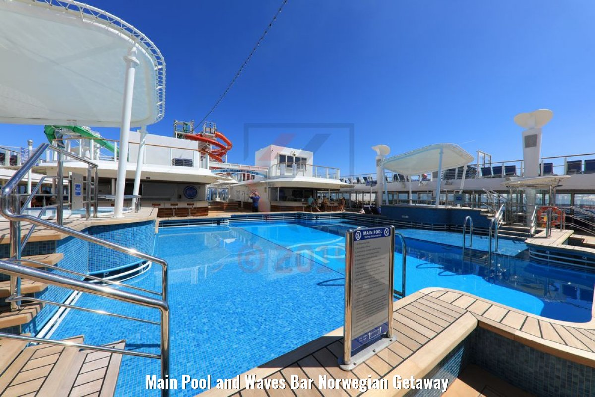 Main Pool and Waves Bar Norwegian Getaway