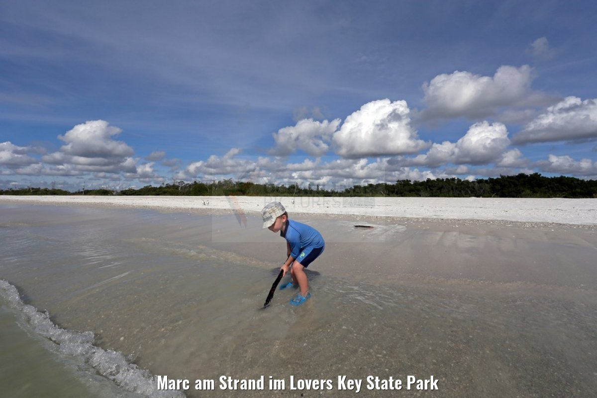 Marc am Strand im Lovers Key State Park