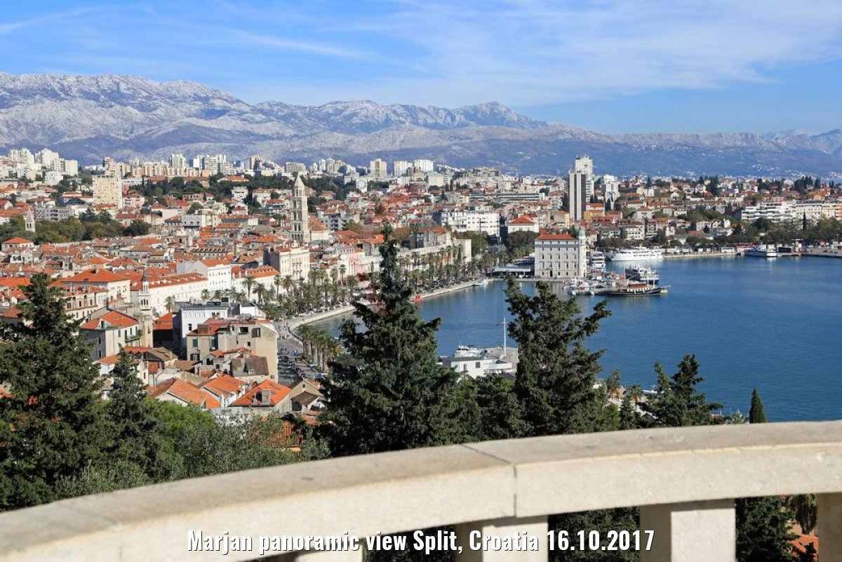Marjan panoramic view Split, Croatia 16.10.2017