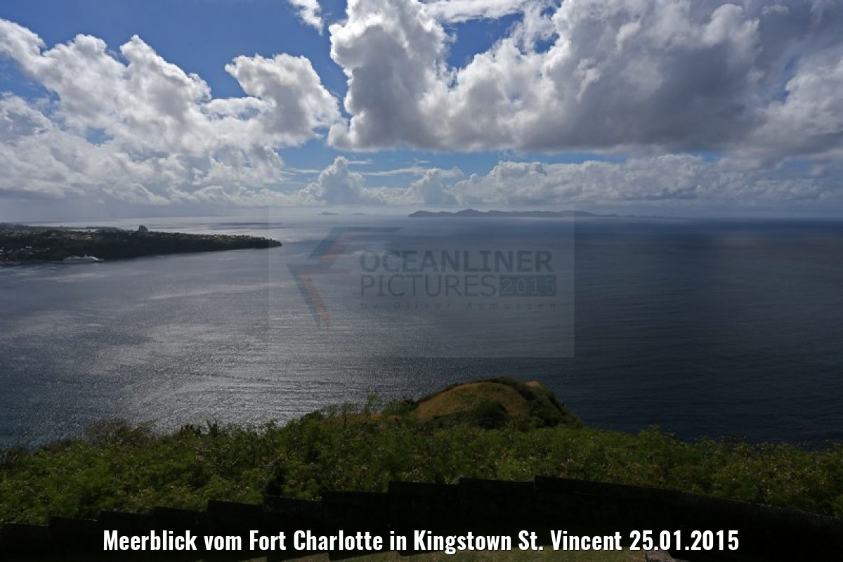 Meerblick vom Fort Charlotte in Kingstown St. Vincent 25.01.2015