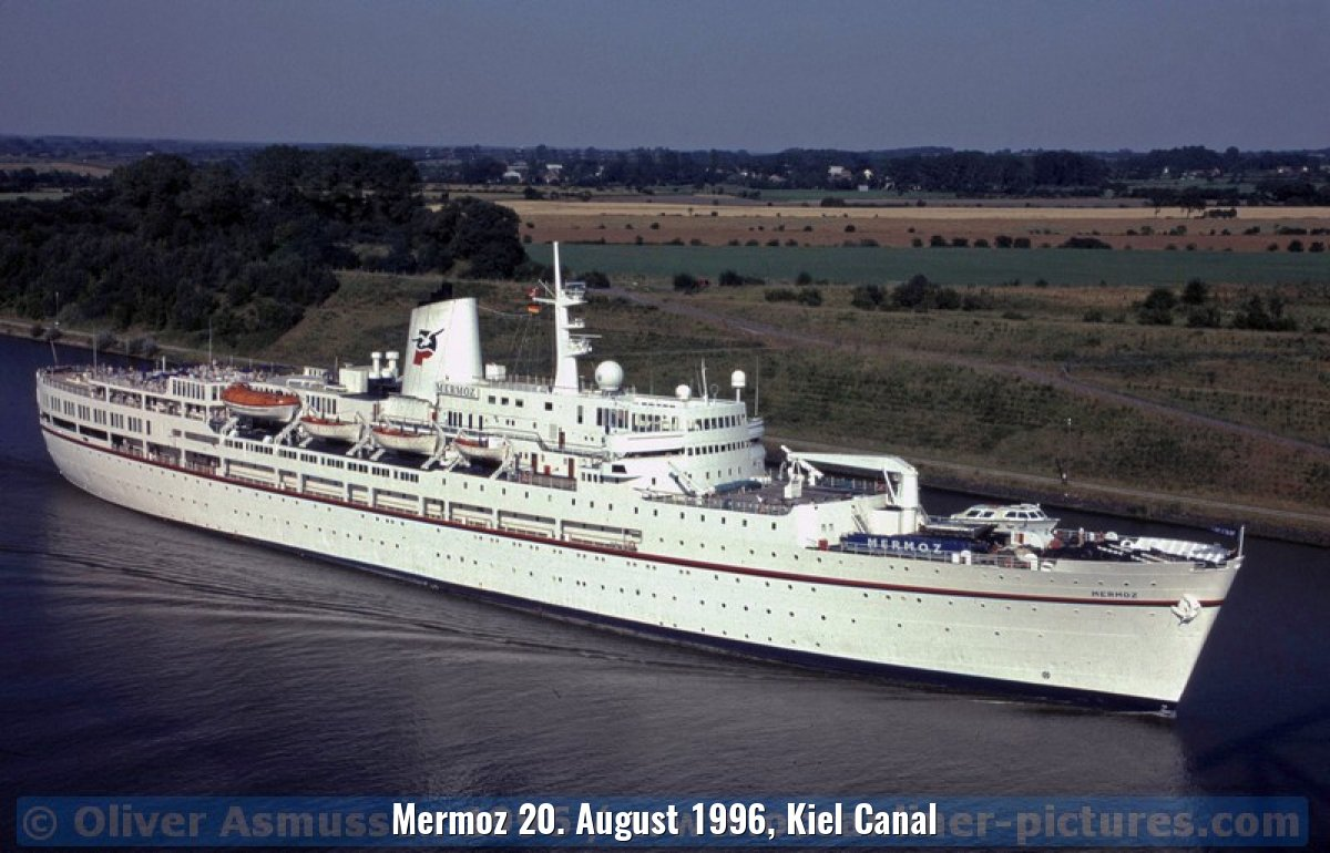 Mermoz 20. August 1996, Kiel Canal