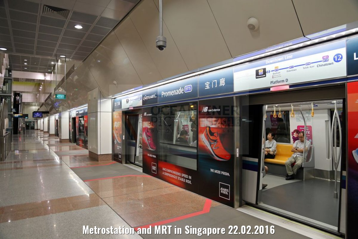 Metrostation and MRT in Singapore 22.02.2016