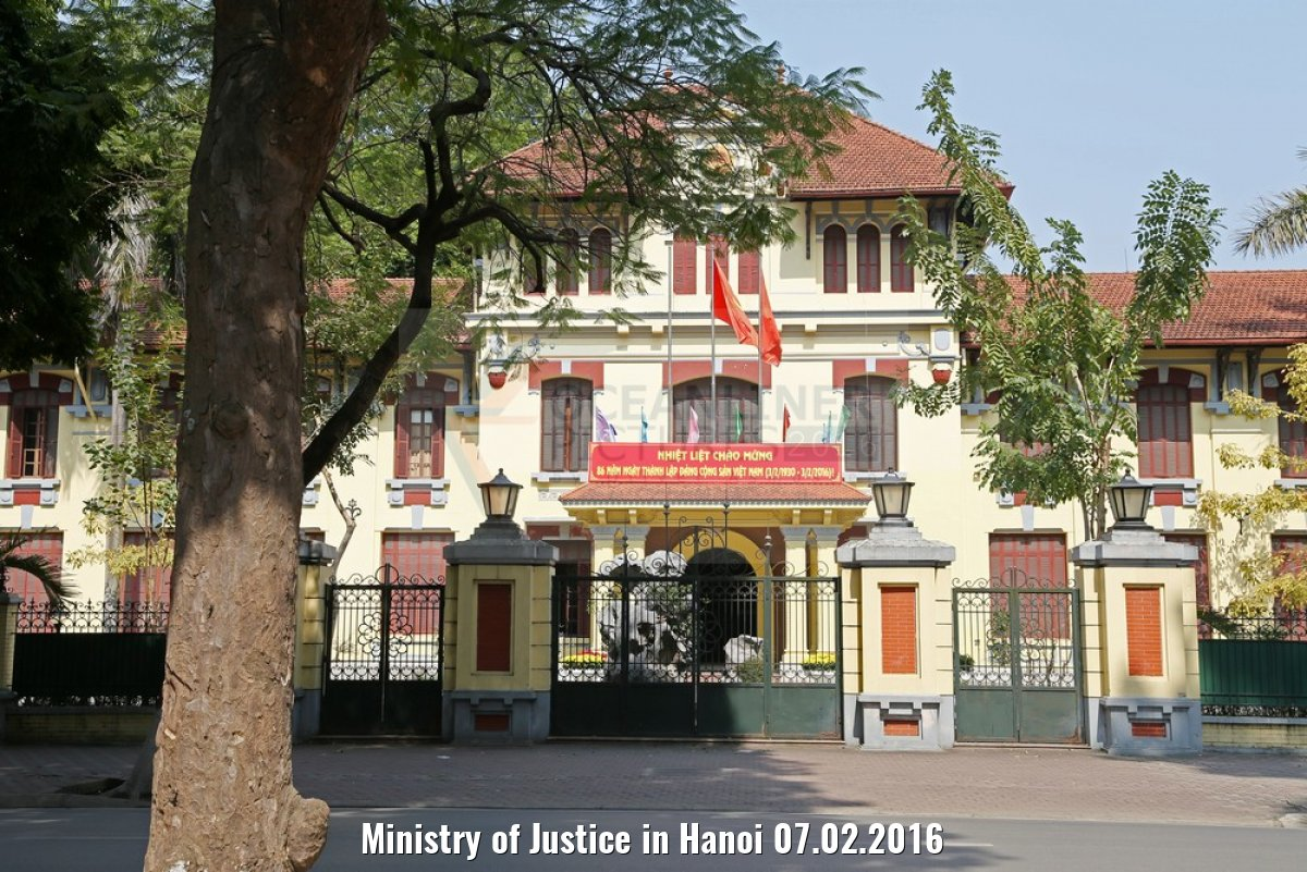Ministry of Justice in Hanoi 07.02.2016