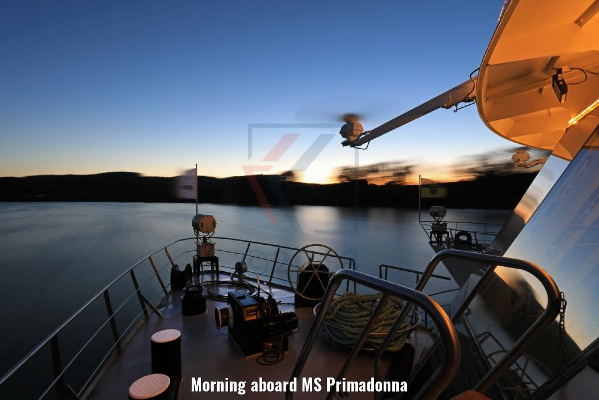 Morning aboard MS Primadonna