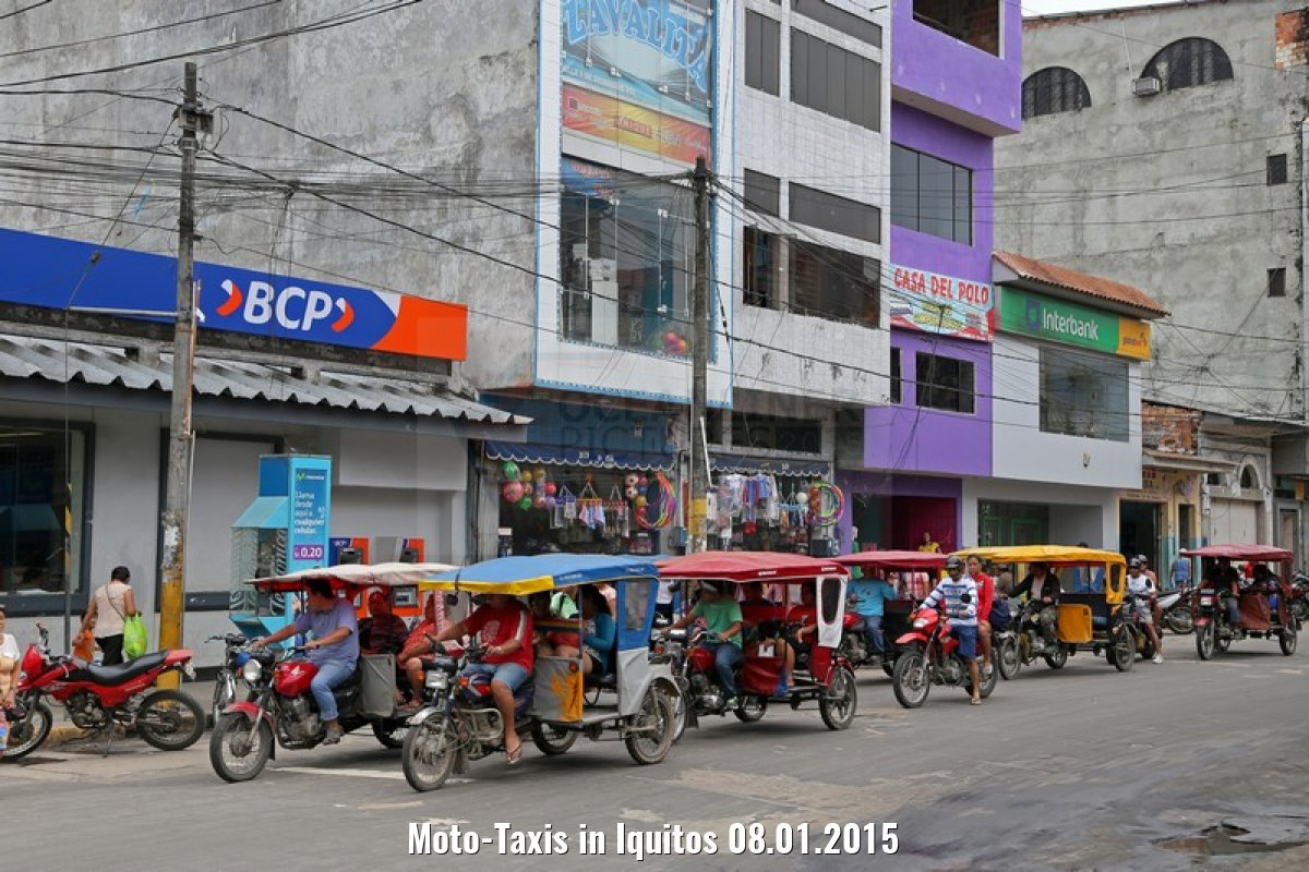 Moto-Taxis in Iquitos 08.01.2015