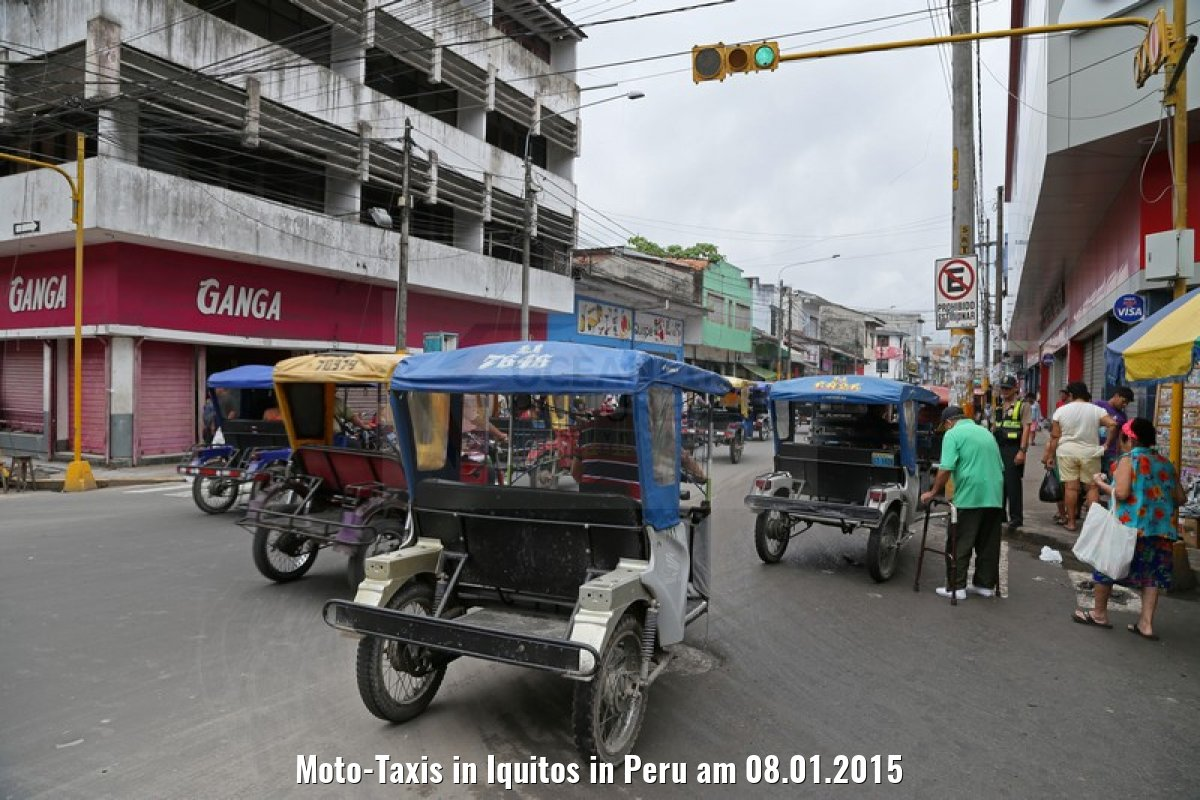 Moto-Taxis in Iquitos in Peru am 08.01.2015