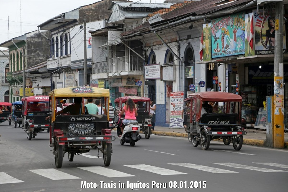 Moto-Taxis in Iquitos Peru 08.01.2015