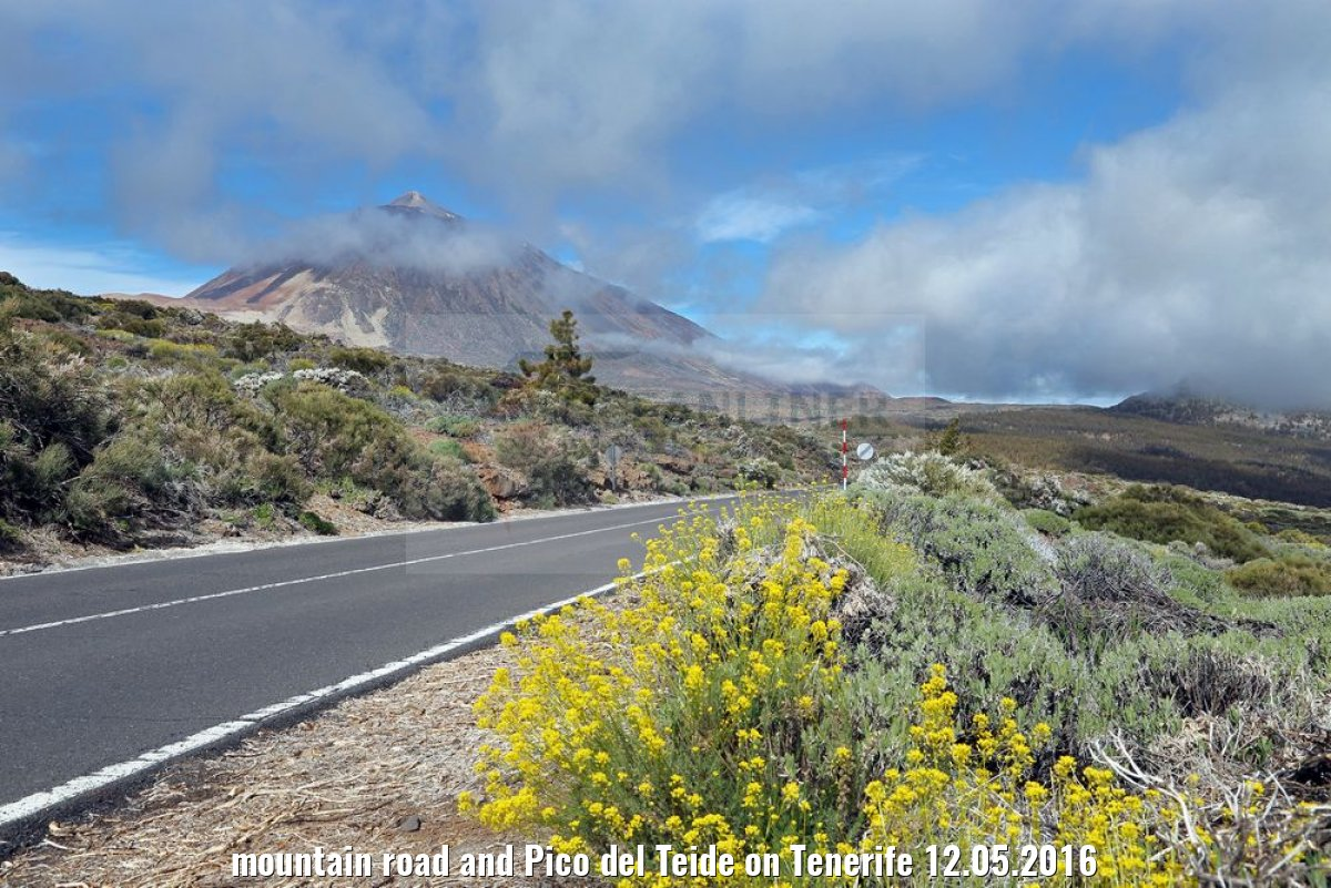 mountain road and Pico del Teide on Tenerife 12.05.2016