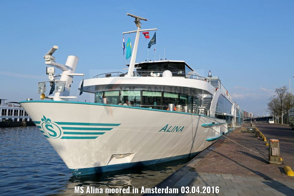 MS Alina moored in Amsterdam 03.04.2016