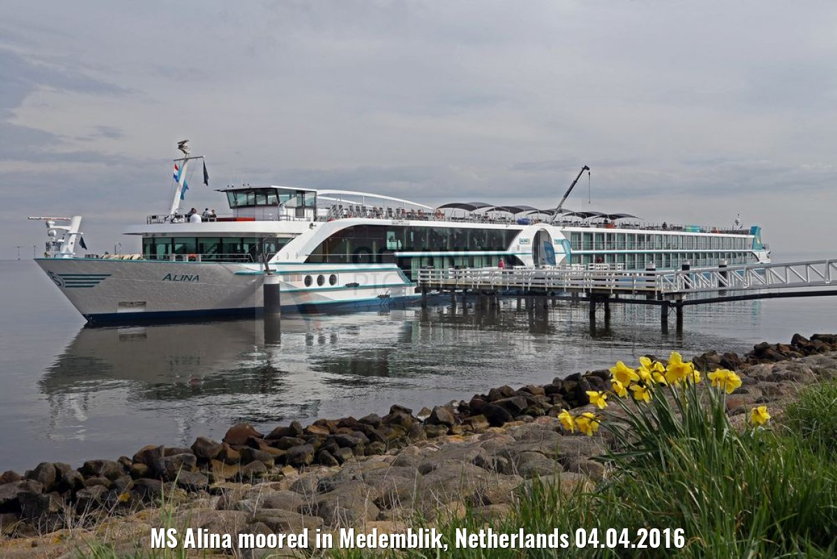 MS Alina moored in Medemblik, Netherlands 04.04.2016
