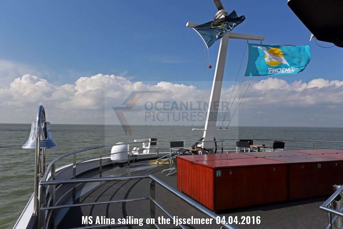 MS Alina sailing on the Ijsselmeer 04.04.2016