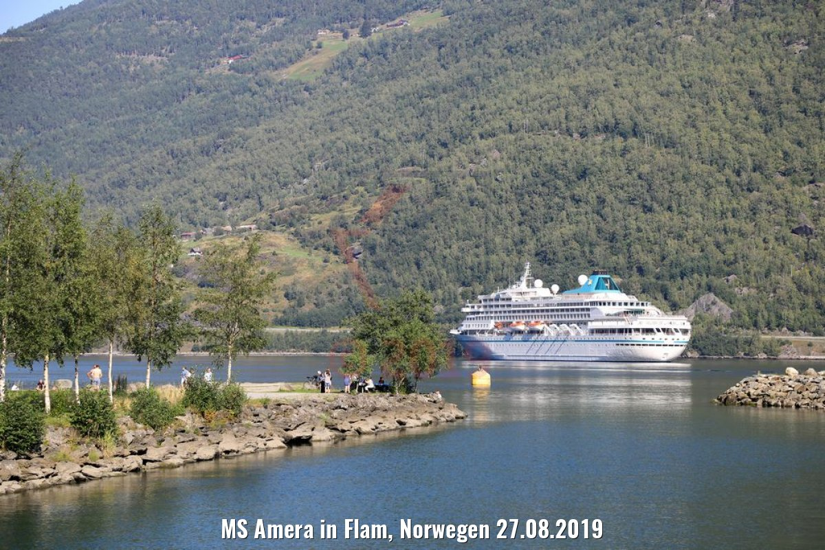 MS Amera in Flam, Norwegen 27.08.2019