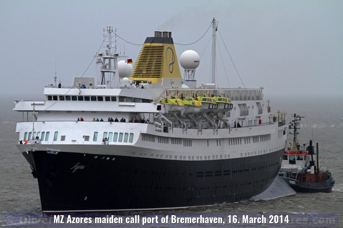 MZ Azores maiden call port of Bremerhaven, 16. March 2014