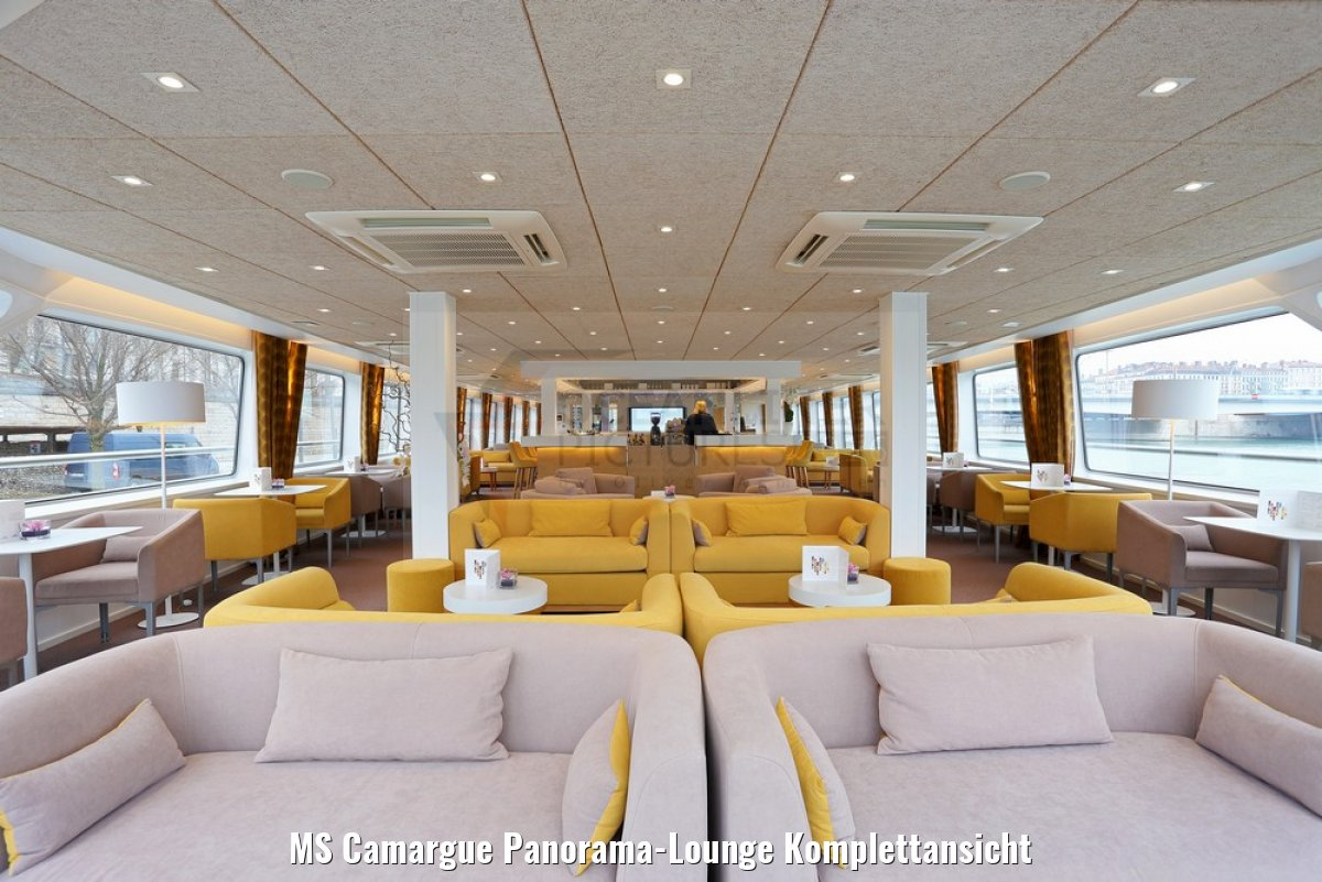 MS Camargue Panorama-Lounge Komplettansicht