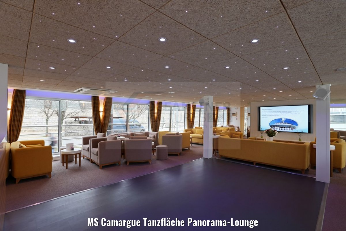 MS Camargue Tanzfläche Panorama-Lounge