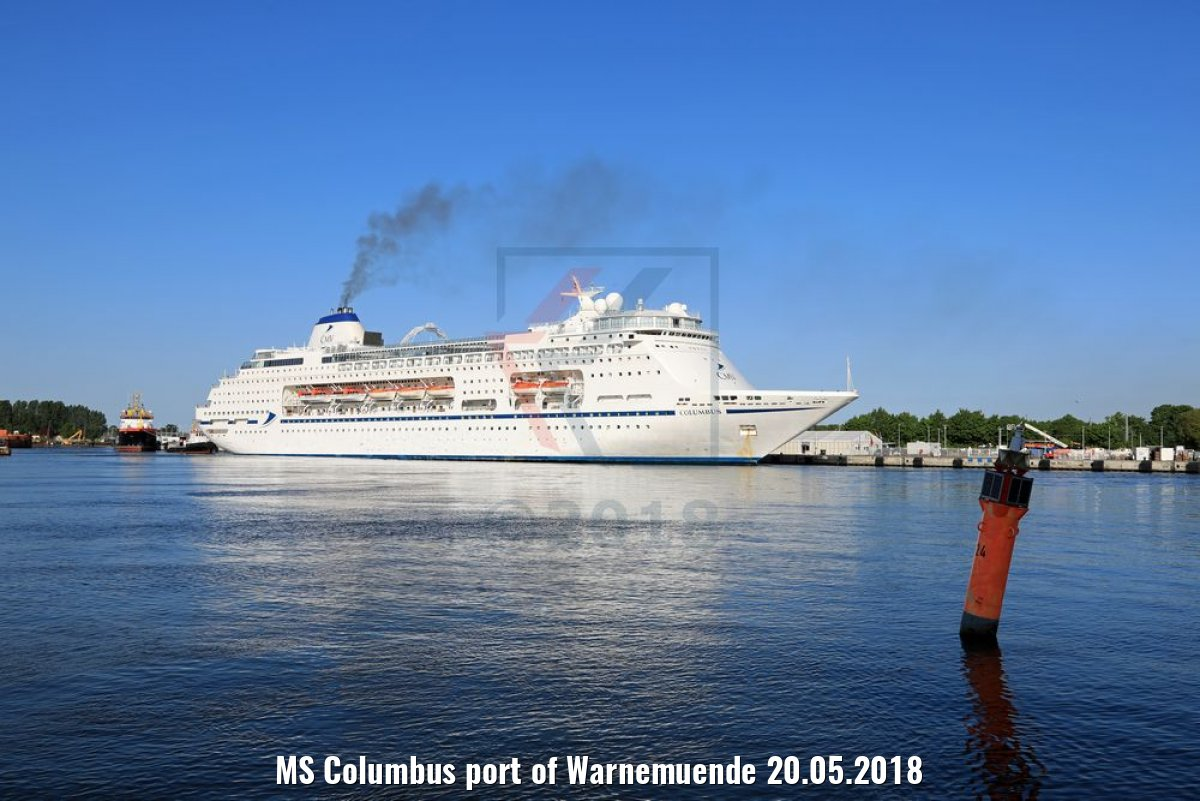 MS Columbus port of Warnemuende 20.05.2018