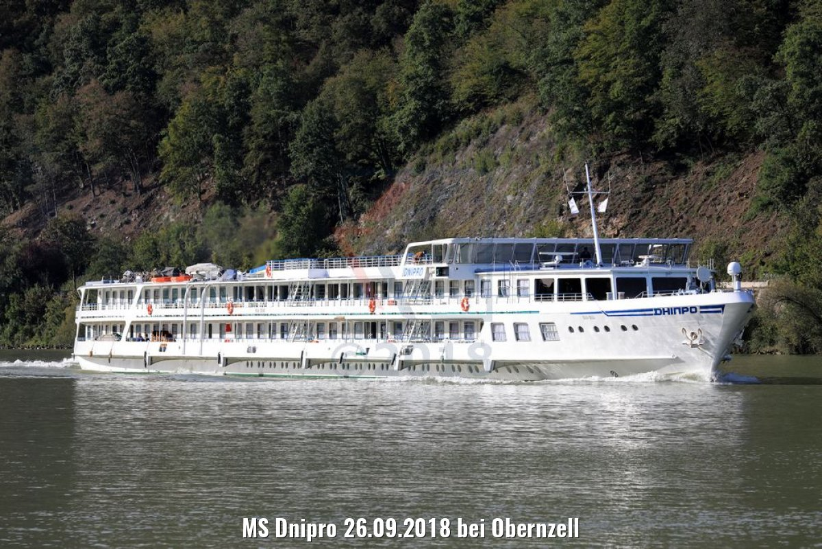 MS Dnipro 26.09.2018 bei Obernzell