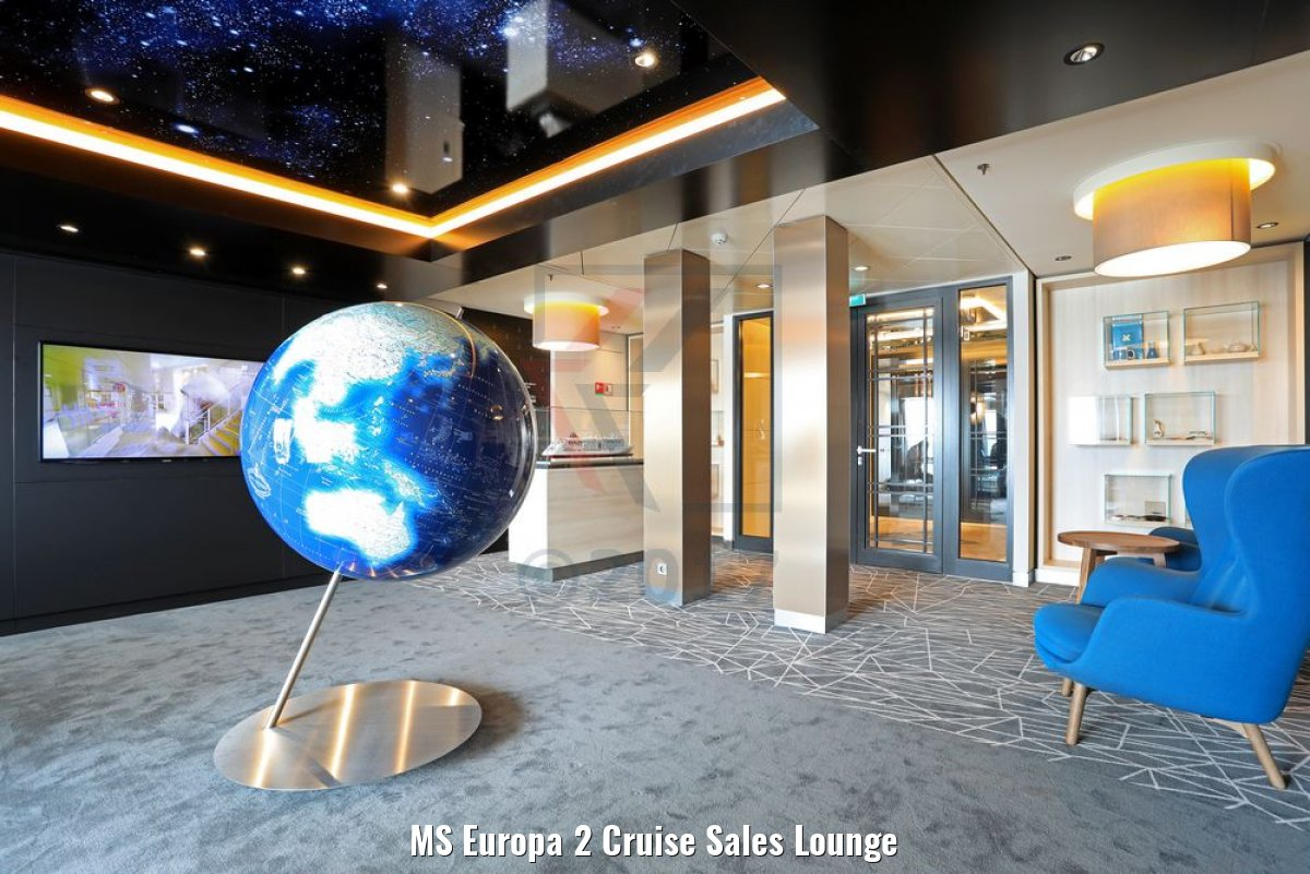 MS Europa 2 Cruise Sales Lounge