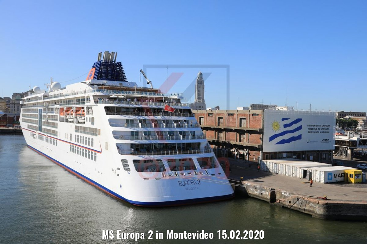MS Europa 2 in Montevideo 15.02.2020