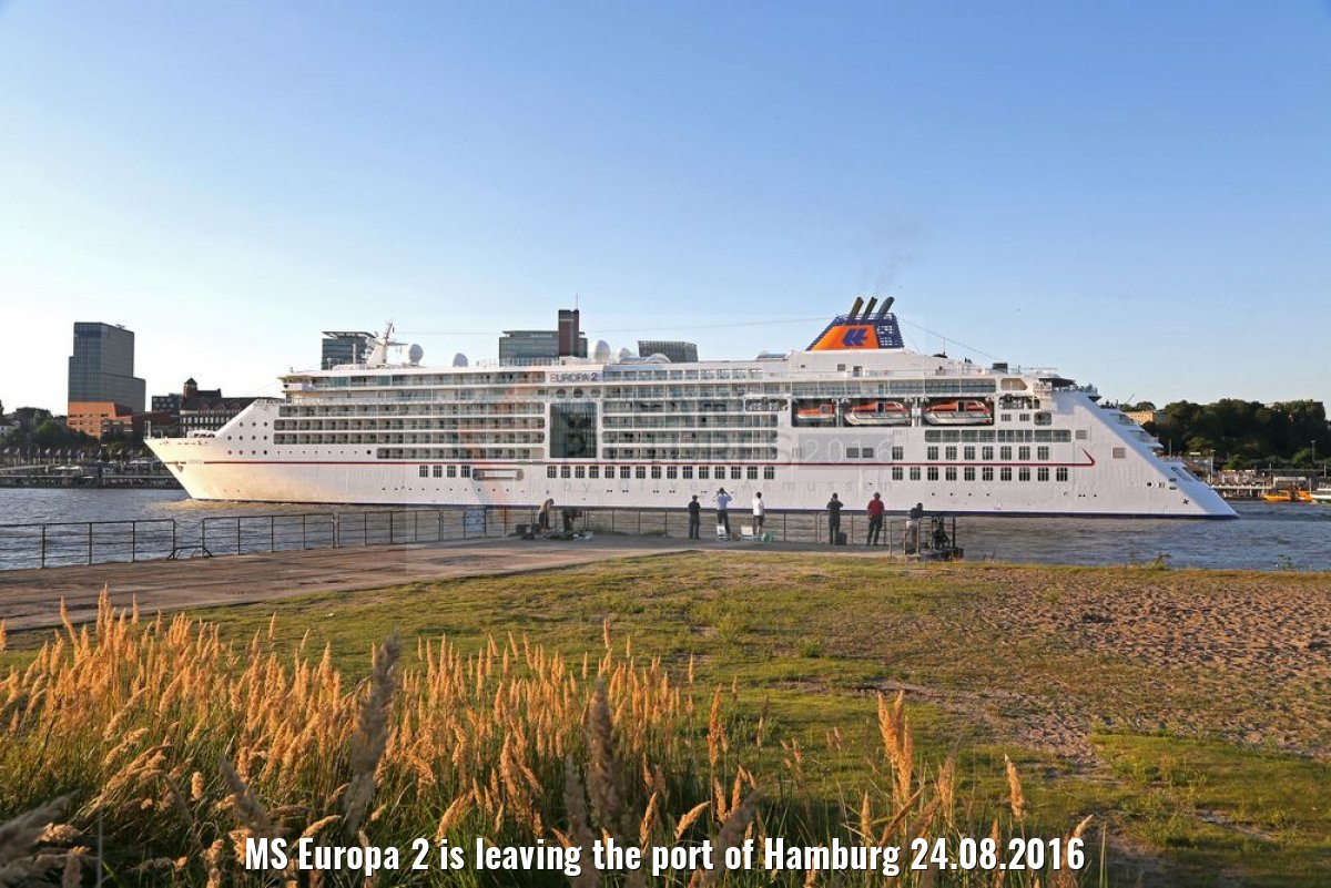 MS Europa 2 is leaving the port of Hamburg 24.08.2016