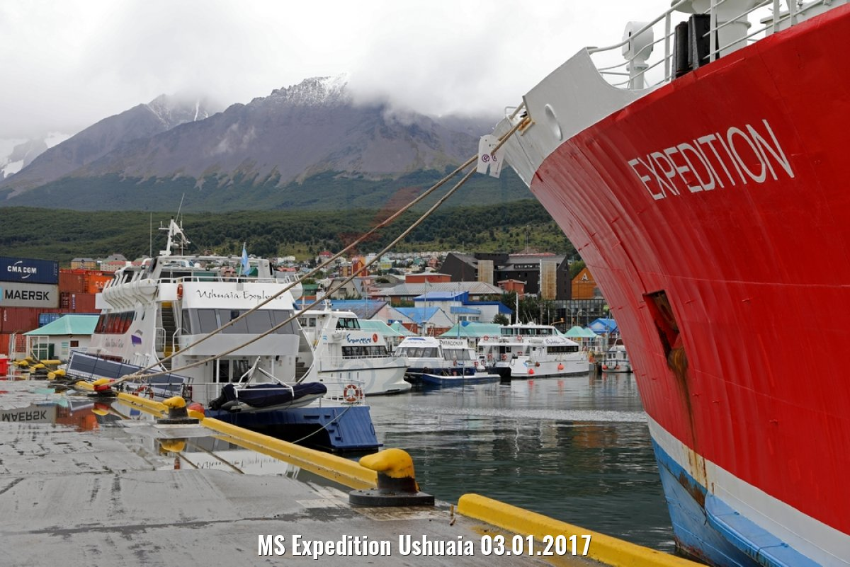 MS Expedition Ushuaia 03.01.2017