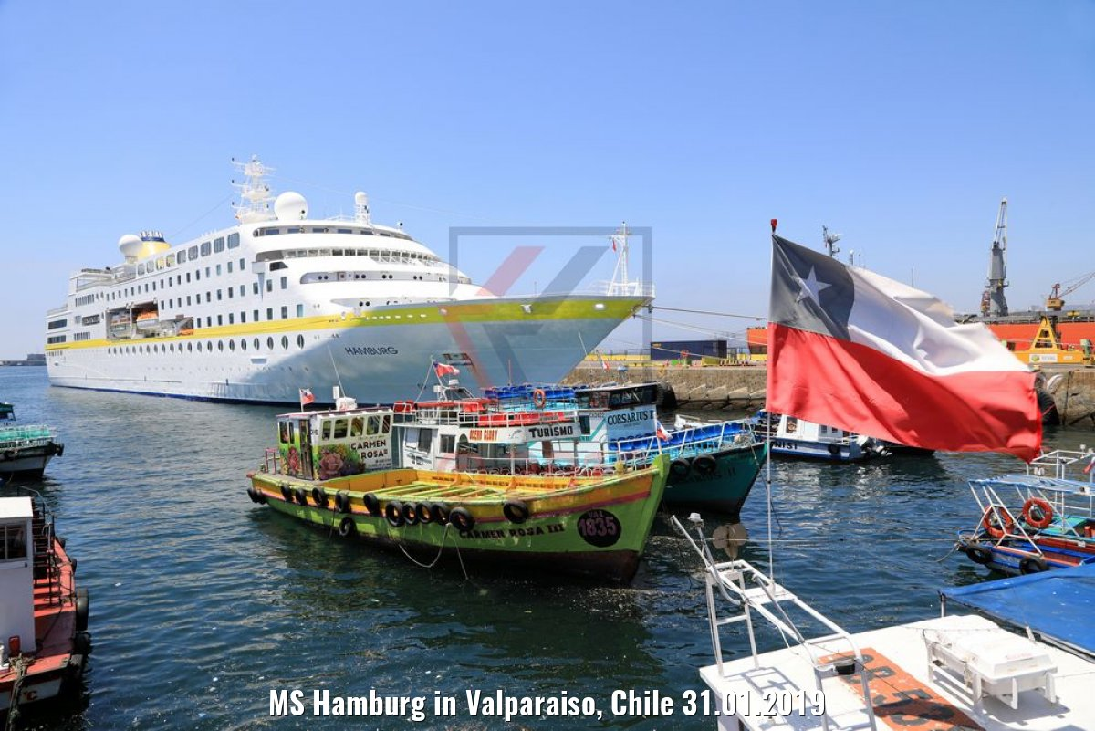 MS Hamburg in Valparaiso, Chile 31.01.2019