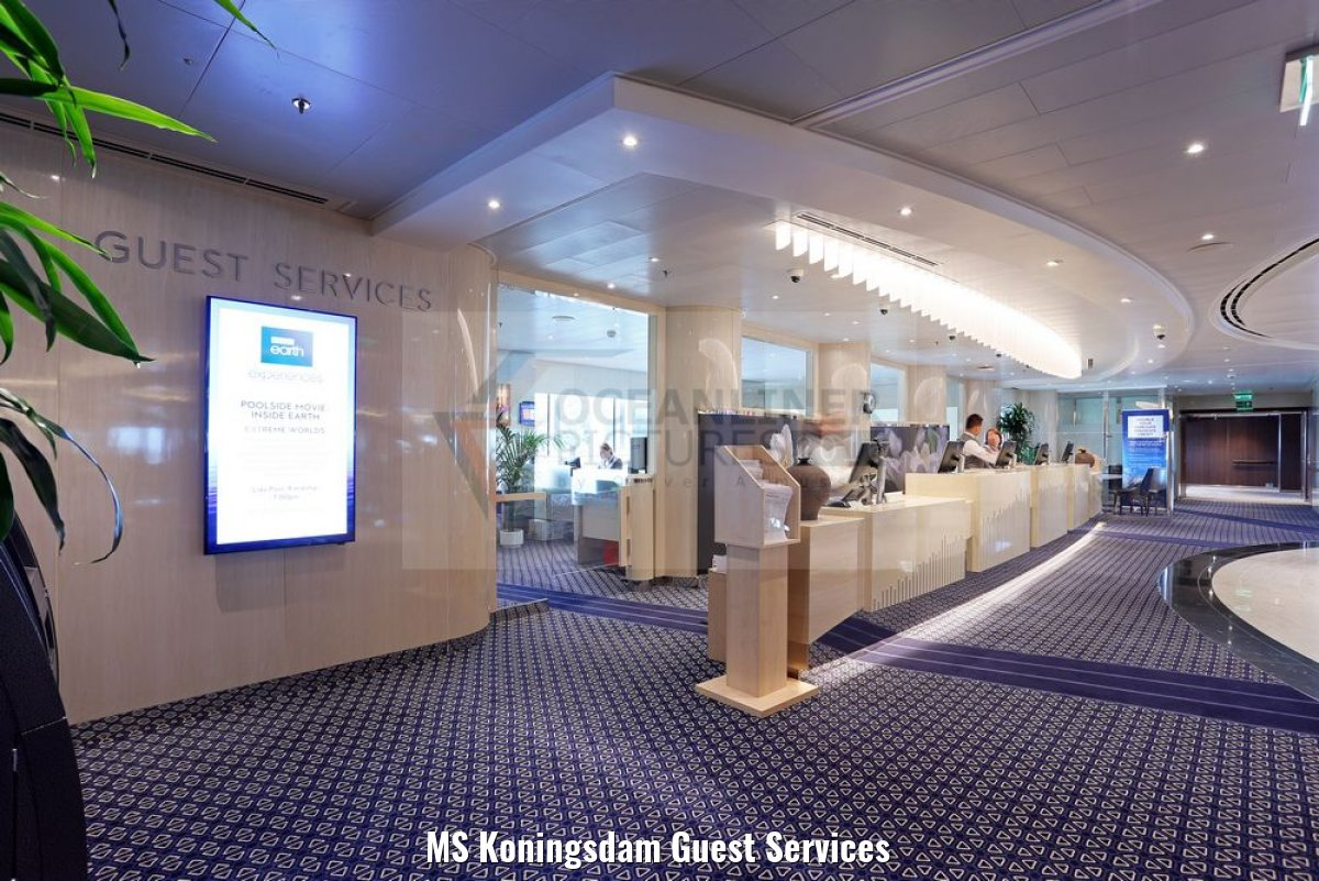 MS Koningsdam Guest Services