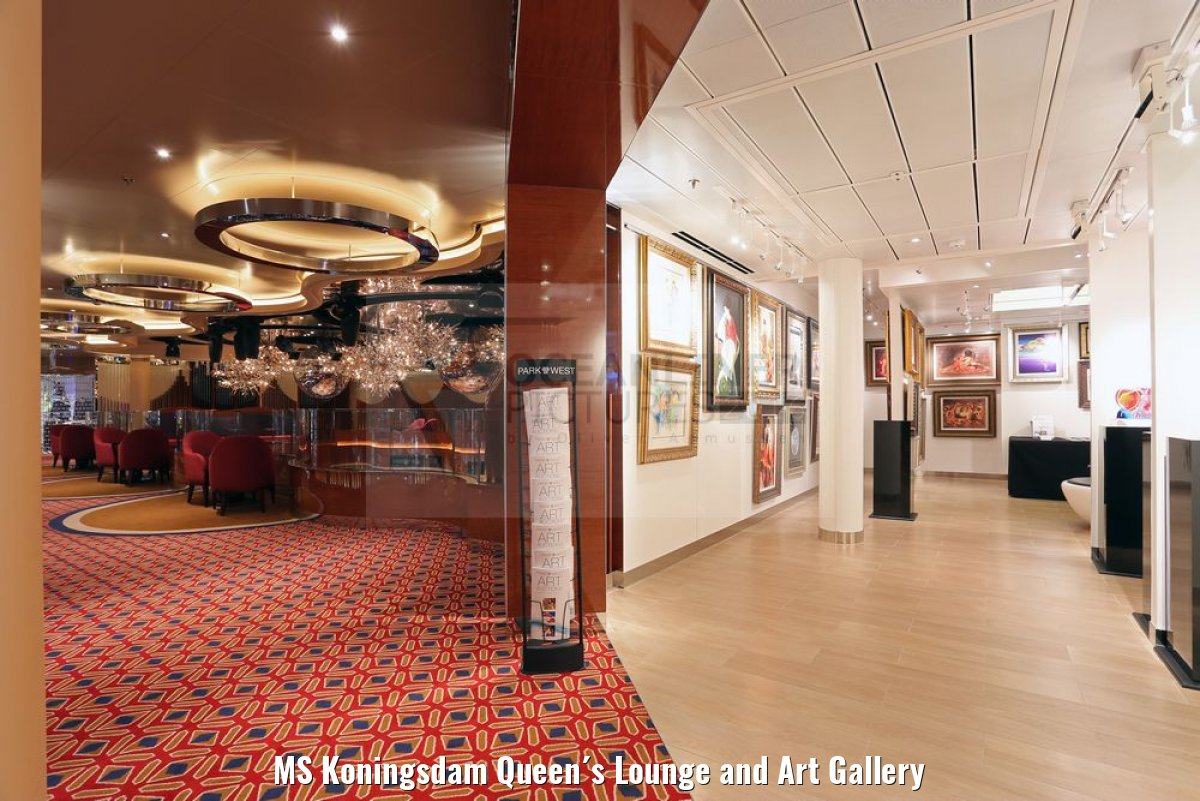 MS Koningsdam Queen´s Lounge and Art Gallery